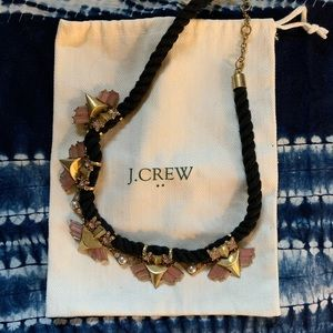 💐 J. Crew Statement Necklace in Lilac & Pearl